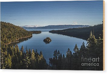 A Generic Photo Of Emerald Bay Wood Print by Mitch Shindelbower