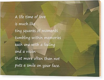 A Life Time Of Love Wood Print by Jeff Swan