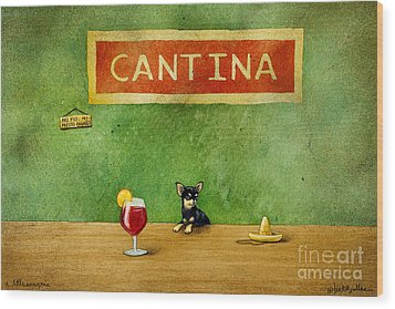 a little Sangria... Wood Print by Will Bullas