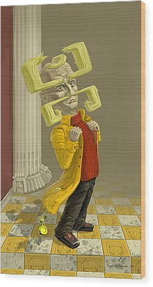 A Man Of Style Wood Print by Augustinas Raginskis