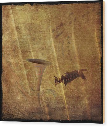 A Mirage Of Music Wood Print by Suzy Norris