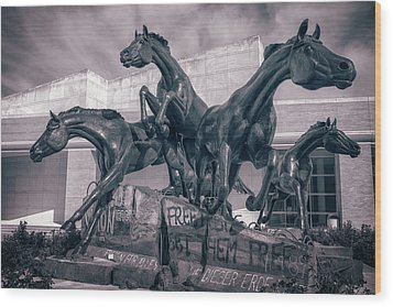 A Monument To Freedom II Wood Print by Joan Carroll