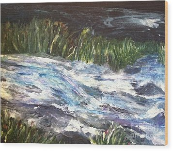 A River Runs Through Wood Print by Sherry Harradence