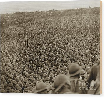 A Sea Of Helmets World War One 1918 Wood Print by California Views Mr Pat Hathaway Archives