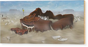A Slow Death In Piano Valley - Panoramic Wood Print by Mike McGlothlen