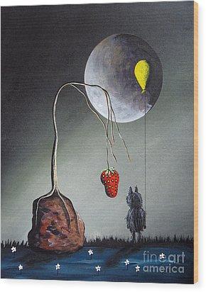 A Strange Dream By Shawna Erback Wood Print by Shawna Erback