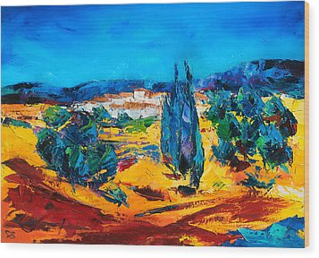 A Sunny Day In Provence Wood Print by Elise Palmigiani