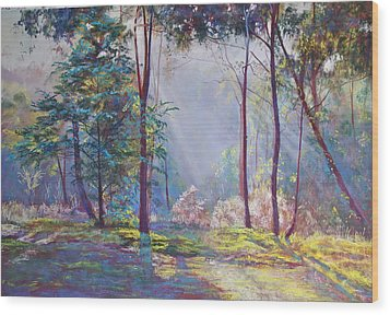 A Symphony Of Bush Colours Wood Print by Lynda Robinson