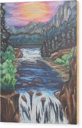 A Trip Thru The Mind Wood Print by Cheryl Pettigrew