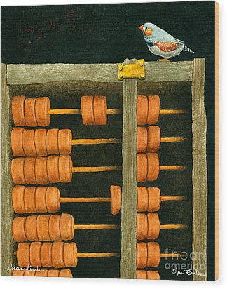 Abacus Finch... Wood Print by Will Bullas