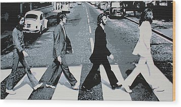 Abbey Road 2013 Wood Print by Luis Ludzska
