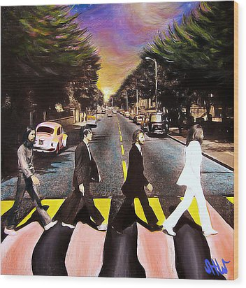 Abbey Road Wood Print by Steve Will