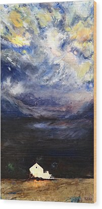 Above The Storm Wood Print by Patty Kingsley