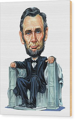 Abraham Lincoln Wood Print by Art