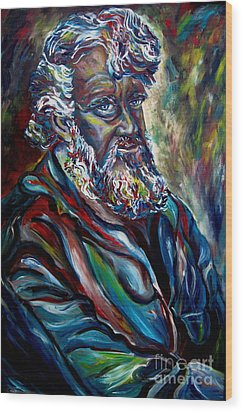 Abraham  Patriarch Wood Print by Carole Spandau
