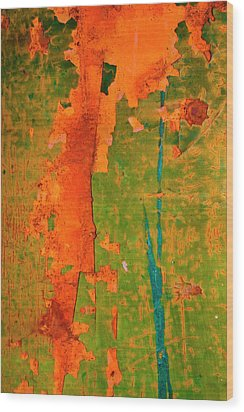 Absrtract - Rust And Metal Series Wood Print by Mark Weaver