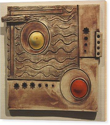 Abstract 1 Wood Print by Dan Earle