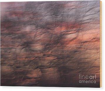 Abstract 10 Wood Print by Tony Cordoza