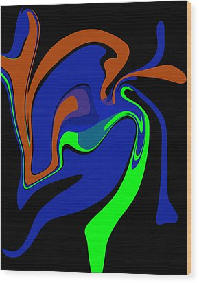 Abstract 124 Wood Print by J D Owen