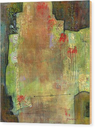 Abstract Art Where The Love Is Wood Print by Blenda Studio