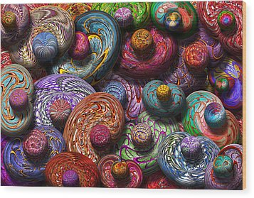 Abstract - Beans Wood Print by Mike Savad