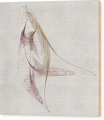 Abstract Bird Wood Print by David Ridley
