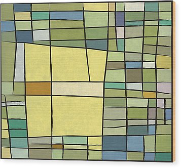 Abstract Cubist Wood Print by Gary Grayson