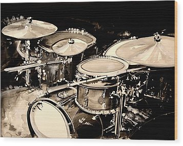 Abstract Drum Set Wood Print by J Vincent Scarpace