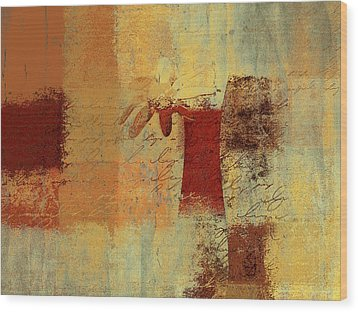 Abstract Floral - 14v4i-t2b2 Wood Print by Variance Collections