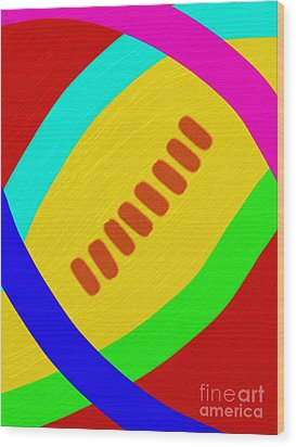 Abstract Football Wood Print by Andee Design