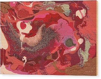 Abstract - Nail Polish - Love Wood Print by Mike Savad