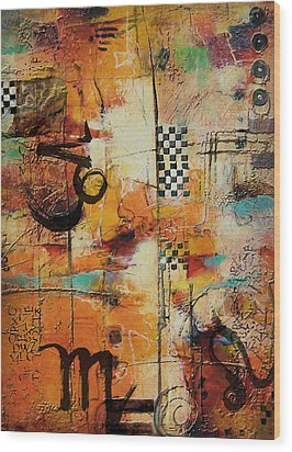 Abstract Tarot Art 010 Wood Print by Corporate Art Task Force