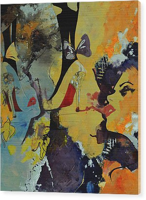 Abstract Women 010 Wood Print by Corporate Art Task Force