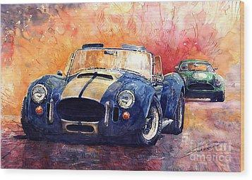 Ac Cobra Shelby 427 Wood Print by Yuriy  Shevchuk