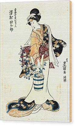 Actor Sawamura Tanosuke 1810 Wood Print by Padre Art