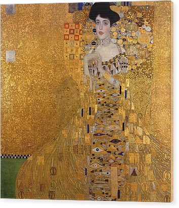 Adele Bloch Bauers Portrait Wood Print by Gustive Klimt
