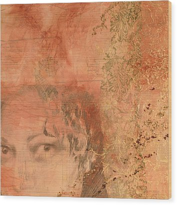 Adornment 2 Wood Print by Carlynne Hershberger