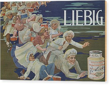 Advertisement For Extractum Carnis Liebig Wood Print by English School