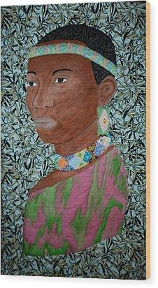 African Queen Wood Print by Linda Egland