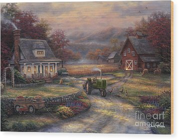 Afternoon Harvest Wood Print by Chuck Pinson