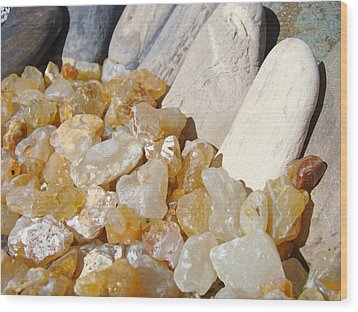 Agate Rocks Beach Art Prints Agates Wood Print by Baslee Troutman