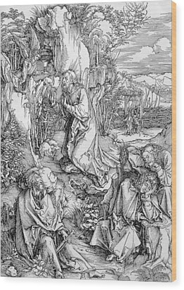 Agony In The Garden From The 'great Passion' Series Wood Print by Albrecht Duerer