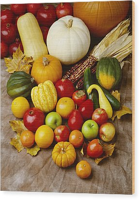 Agriculture - Autumn Fruits Wood Print by Ed Young