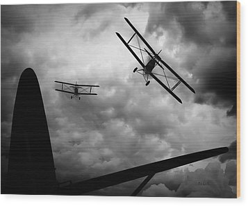 Air Pursuit Wood Print by Bob Orsillo