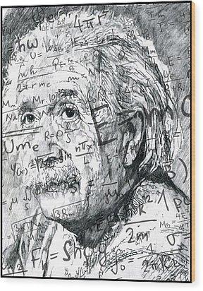 Albert Einstein Wood Print by Kyle Willis