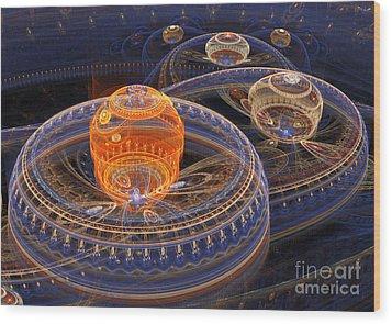 Alien Landscape Wood Print by Martin Capek