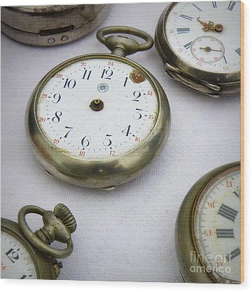 All Out Of Time Wood Print by Lainie Wrightson
