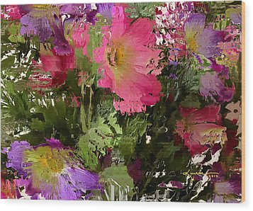 All The Flower Petals In This World 3 Wood Print by Kume Bryant