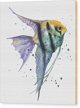 Alluring Angelfish Wood Print by Alison Fennell