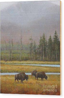 Along The Madison Wood Print by Lori  McNee